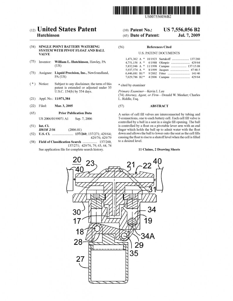 Patent Application Granted for Liquid Precision, Inc. Riddle Patent Law, Scranton, PA, King of Prussia, PA, Allentown, PA, New Foundland, PA.