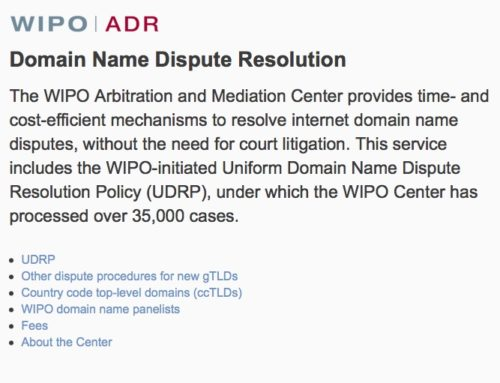 Attorney Wins UDRP Proceeding – Domain Name is Transferred to the Trademark Owner